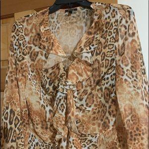Escada leopard blouse